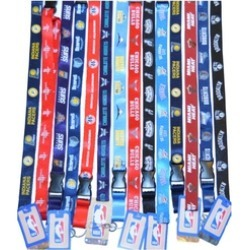 Official Licensed NBA Basketball Breakaway Lanyard Key Ring