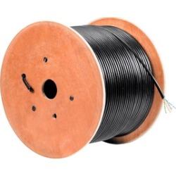 Cat6 Ethernet Bulk Cable Internet Stranded UTP Outdoor 23AWG 1000' Blk