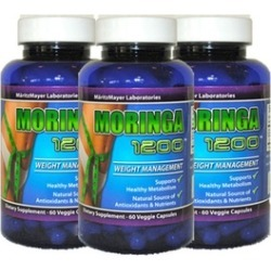 3 Bottle Natural Moringa Oliefera Capsules for Weight Loss