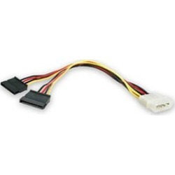 Startech PYO2LP4SATA LP4 to2 SATAInternal PowerSplitter Cable found on Bargain Bro India from groupon for $23.97