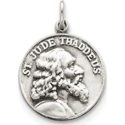 Sterling Silver Engravable Saint Jude Thaddeus Medal