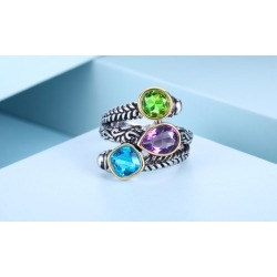 Lab-Created Multi-Gemstone Statement Ring - Women's Ring By Gembassy found on MODAPINS from groupon for USD $12.99