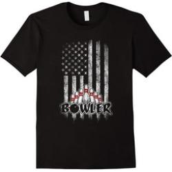Bowling T-Shirt USA American Flag