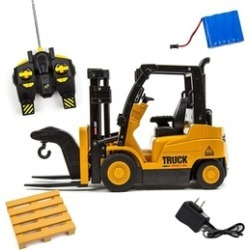 Toysery Functions Remote Control Truck Forklift Toy Play Set Vehicle