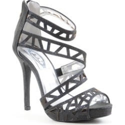 Glitter Cut-out Strappy Open Toe Platform Women's Heels Shoes