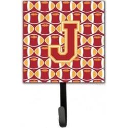 Carolines Treasures CJ1070-JSH4 Letter J Football Cardinal & Gold Leash or Key H