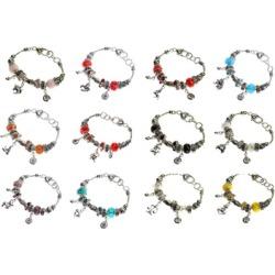Lova Jewelry Zodiac Sign Silver-tone Pandora Style Bracelet