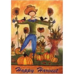 """Happy Harvest Scarecrow House Flag 28""""X40"""""""