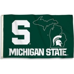 BSI Products Michigan State Spartans 3 x 5 ft. Flag with Grommets found on Bargain Bro India from groupon for $25.10