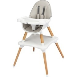 4-in-1 Baby High Chair Infant Wooden Convertible Chair w/5-Point Seat Belt
