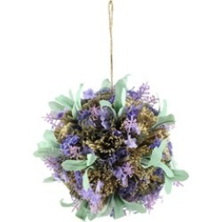 "8"" Hanging Purple Lavender with Greenery Inspired Foliage Ball"