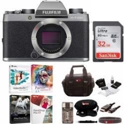 Fujifilm X-T100 Mirrorless Digital Camera (Dark Silver) with Accessories Bundle