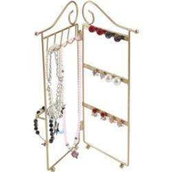 2 Panel Trellis Folding Jewelry Hanger