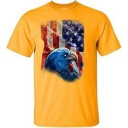 American Flag with Eagle Shadow Shirt American Eagle Flag Shirt