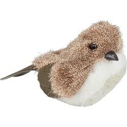 "6.5"" Nature's Luxury Copper Brown White Bird Christmas Figure D""cor"