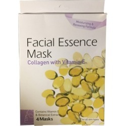 Skin Care Facial Essence Mask Collagen & Vitamin E Contains 4 Masks