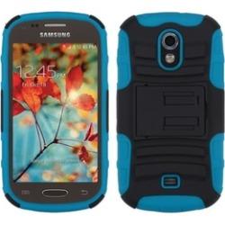 Insten Hybrid Rubberized Case w stand For Galaxy LightBlack Blue