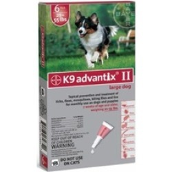 Advantix Flea and Tick Control for Dogs 20-55 lbs 6 Pack