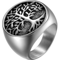 Silver Tree Of Life Ring Jewelry for Men