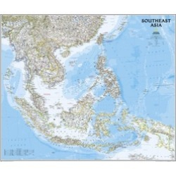 National Geographic Maps RE01020620 Southeast Asia Classic Wall Map