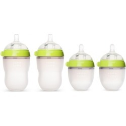 Comotomo 5 oz and 8 oz Baby Bottles - 4 Pack