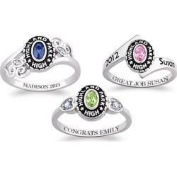 One or Two Personalized Women's Class Rings from Limogés Jewelry (Up to 68% Off)