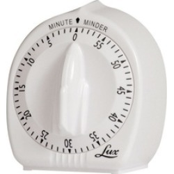 Lux CP2428-59 Minute Minder Mechanical Timer, White