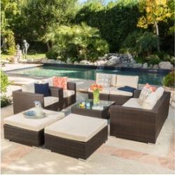 Cortez Sea Outdoor Sectional Sofa Set (9-Piece)