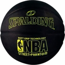 "Spalding NBA Street Phantom Outdoor Basketball, 29.5"" Neon Yellow"