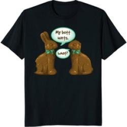 Funny Chocolate Easter Bunny Tee Shirt