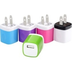 5x 1A USB Wall Charger Plug AC Home Power Adapter
