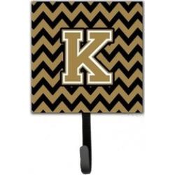 Carolines Treasures CJ1050-KSH4 Letter K Chevron Black & Gold Leash or Key Holde