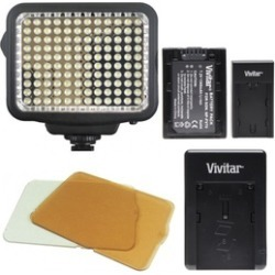 Vivitar 120 LED Dimmable Light Panel Dimmable on Camera or Camcorder