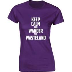 Dyong Keep Calm and Wander the Wasteland, Ladies Printed Adult Tee
