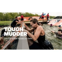 Registration for One to Any Tough Mudder Classic or Tough Mudder 5K Event in 2019 (Up to 28% Off)
