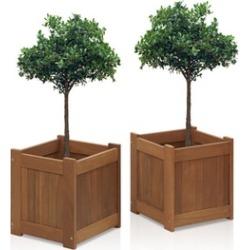 Hardwood Flower Box  2 Pack