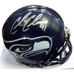 Autographed Chris Clemons Seattle Seahawks Mini Helmet