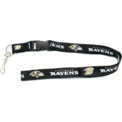 MKW 5717526250 Baltimore Ravens Breakaway Lanyard with Key Ring