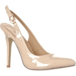 Riverberry 'Lucy' Pointed-Toe Sling Back Pump Heels, Nude Patent