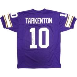 Autographed Fran Tarkenton Minnesota Vikings Purple Custom Jersey