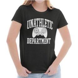 Unathletic Gamer Video Game Nerd Geek Gaming Ladies T Shirt