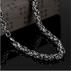 Solid Stainless Steel Large Grape Vine Byzantine Men's Chain found on MODAPINS from groupon for USD $29.99
