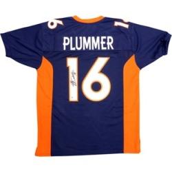 Autographed Jake Plummer Denver Broncos Blue Custom Jersey