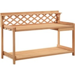 Potting Bench Outdoor Garden Work Bench Station Solid Wood New