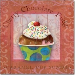 Fiona Stokes-Gilbert-ALI 'Parlor Ice Cream IV' Canvas Art