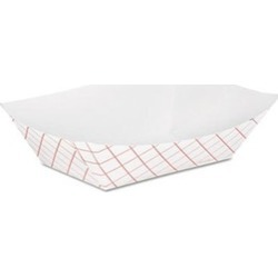 Dixie Food Service DXERP50 0.5 lbs Kant Leek Polycoated Paper Food Tray Red Plai