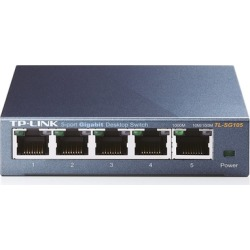TP-Link TL-SG105 5-Port Gigabit Ethernet Metal Network Switch found on Bargain Bro India from groupon for $57.00