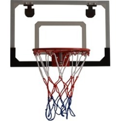 Wall Mount Clear Basketball Backboard with Basketball & Pump