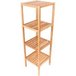 Bamboo Splint Sundry Storage Rack Wood