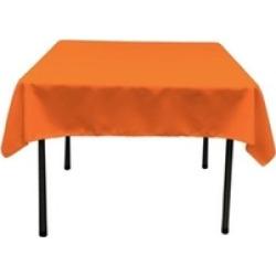 LA Linen TCpop52x52-OrangeP48 Polyester Poplin Square Tablecloth Orange - 52 x 5